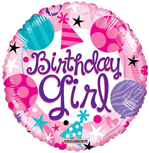 Happy Birthday Party Birthday Girl 18'' Mylar Balloon