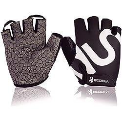 Boodun Cycling Gloves Breathable Bike Gloves Sport Gloves for Men or Women (Black, S)