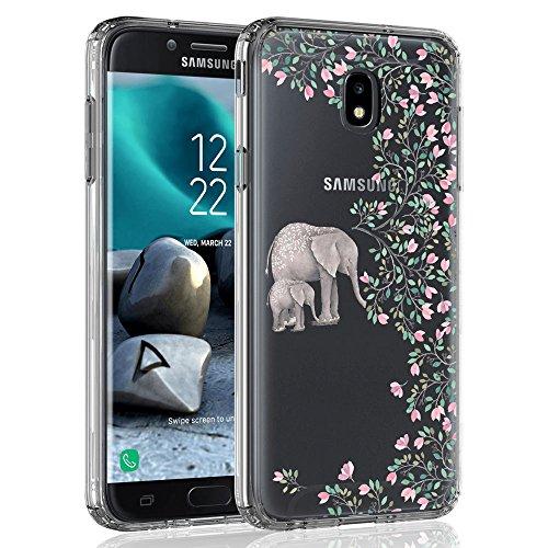 Case for Samsung Galaxy J7 2018 / J7 V 2nd Gen / J7V 2018 / J7 Refine / J7 Star / J7 Aero / J7 Top / J7 Crown / J7 Aura/ J7 Eon, SYONER [Scratch Resistant] Ultra Slim Clear Phone Case Cover [Elephant]