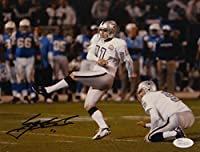 Sebastian Janikowski Signed Oakland Raiders 8x10 Field Goal Photo- JSA W Auth