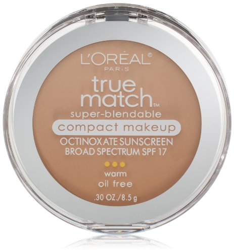 L'Oréal Paris True Match Super-Blendable Compact Makeup, W3 Nude Beige, 0.3 oz.
