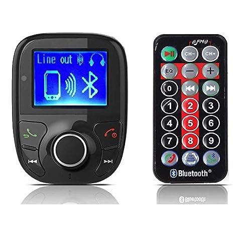 RivenAn LCD Bluetooth FM Transmitter/FM Modulator Radio MP3 Player Audio for SD Card, USB Car Charger, iPhone 6, 5S, 5C, 5, 4S, iPad 3, Mini, Air, Samsung Galaxy S6 Edge, S6, (Iphone 4s Car Transmitter)