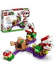 LEGO 71382 Super Mario Piranha Plant Puzzling Challenge-Uitbreidingsset, Soda Jungle Collectible Modulaire Speelset met Stekelig Figuur