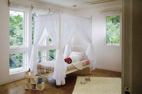 高梨産業 天蓋付きカーテン 5020ベッド用 ホワイト RB-F30G WH B003EENML8