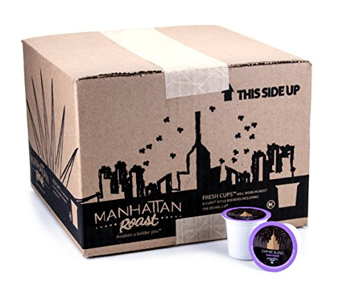 Manhattan Roast 'Empire Blend' (French / Dark Roast) Single-Serve Coffee Freshcup works in most Keurig K-Cup Brewers 90 Count Box