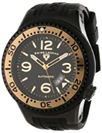 Swiss Legend Men's 11819A-BB-01-GB-W Neptune Automatic Black Dial Black Silicone Watch