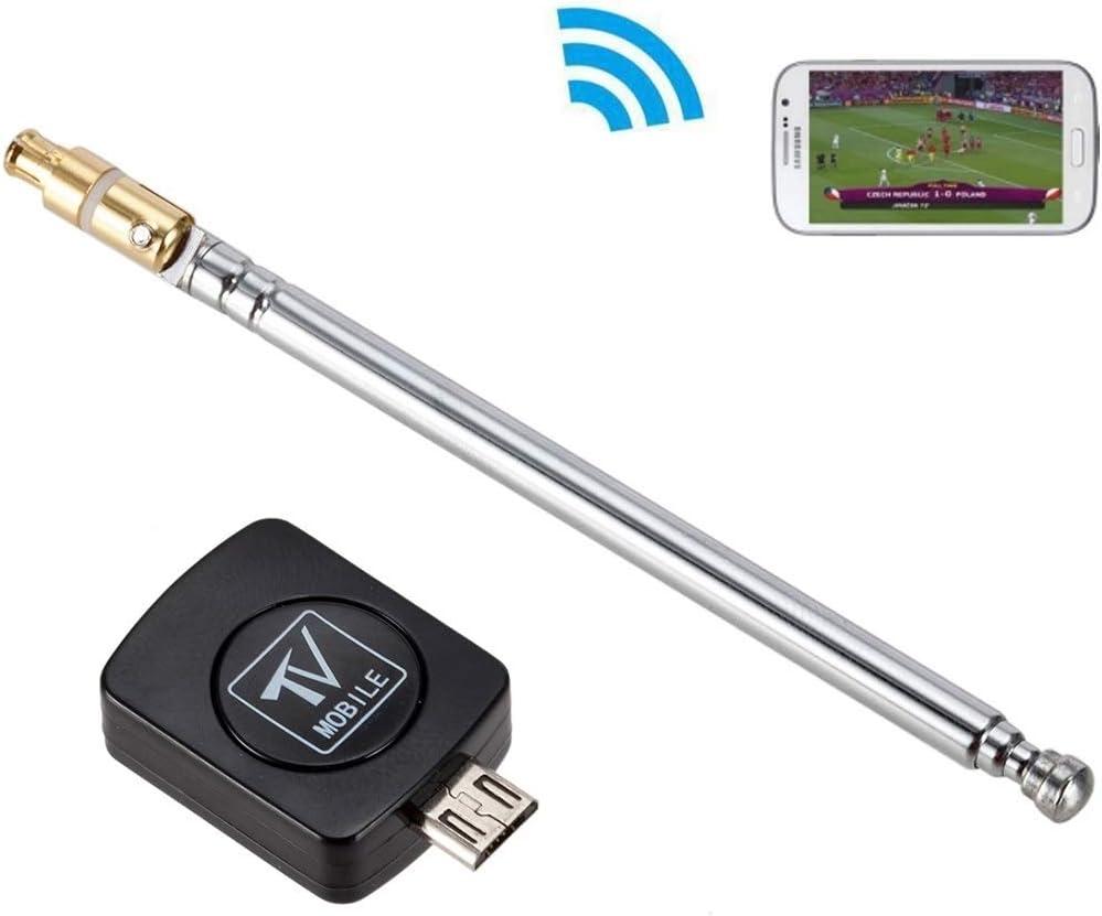 Luz Hermosa For Android teléfonos USB Dongle SDR + R820T2 DVB-T SDR sintonizador de TV Receptor de Radio Caliente (Negro) SDR-Controlador y SoftwareAuto instalador (Color : Black): Amazon.es: Electrónica