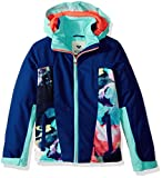 Roxy Big Girls' Sassy Snow Jacket, Neon Grapefruit_Cloud Nine, 8/Small