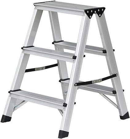 LY-JFSZ Taburete de Escalera con Escalera Taburete de Escalera, Taburete de Escalera Plegable de Aluminio Taburete de Silla de Escalera pequeña en Espiga de 2/3 peldaños B: Amazon.es: Hogar