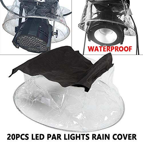 20 Packs 54 Par Light Rain Covers, Stage LED Par Light Rain Cover Waterproof Can Raincoat Outdoor Show Transparent Cover, Weather Shield, for Rental Spare Parts Tool Audience Blinder Topmount Lamp from LOYALHEARTDY19