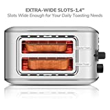2 Slice Toaster, CUSIBOX Extra Wide Slots Stainless Steel Toaster with 7 Bread Browning Settings, REHEAT/DEFROST/CANCEL Function, 750W, ST013