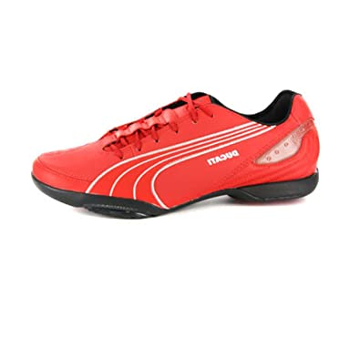 sports shoes 23059 b4704 PUMA Mens Ducati Motorazzo Street Racer Red Leather Sneakers 11 US