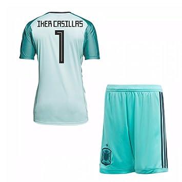 e153c022d52 UKSoccershop 2018-19 Spain Home Goalkeeper Mini Kit (Iker Casillas 1):  Amazon.co.uk: Sports & Outdoors