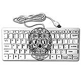 Skull Sugar Head Art Angel Heart USB Wired 78 Keyboard Mini Ultra Slim Noiseless Keyboard For Pc Computer Laptop