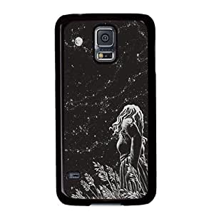 S5 case ,Samsung Galaxy S5 case ,fashion durable black side design Samsung Galaxy S5 case, pc material phone cover ,with night scenery .
