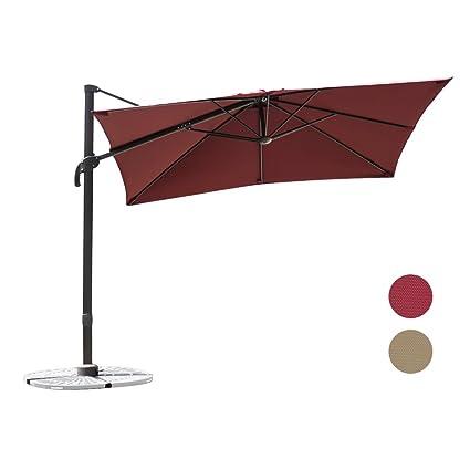 C Hopetree 8u00276 Deluxe Square Offset Cantilever Outdoor Patio Umbrella, 360°