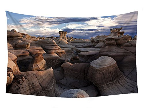PUPBEAMO PRINTS 60x40 Inches Wall Tapestry - Bisti Badlands New Mexico - Wall Tapestry Art For Home Decor Wall Hanging Tapestry Bedroom Living Room Dorm ()