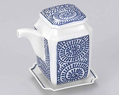 Tako Karakusa 2.4inch Set of 10 Soy Sauce Dispensers White porcelain Made in Japan by Watou.asia
