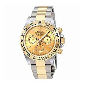 Rolex Cosmograph Daytona Champagne Dial Steel and 18K Yellow Gold Men's Watch 116503/78593