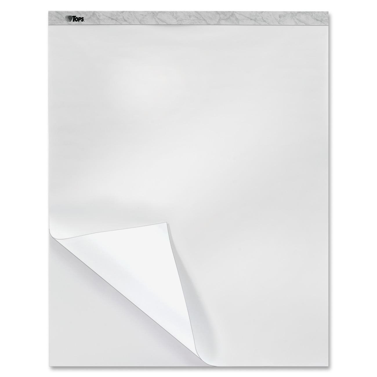 TOPS Bleed Blocker Easel Pad, 27 x 34 Inches, Recycled, 40 Sheets, White, 2 Pads (79062)