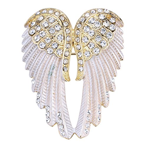 Hiddlston Crystal Guardian Angel Wing Jewelry Custom Brooch Pins For (Weeping Angels Costume Wings)