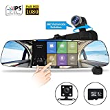 Spedal Car Dash Cam, 1080P HD 5.0 Touch Screen Dashboard Camera, 360°Automatic Rotation Car Camera with Parking Monitor, Loop Recording, G-Sensor, Night Vision (Backup Camera and 32 GB Card Included)