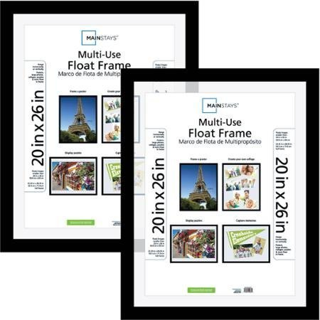 (Classic Styles Mainstays Decor 20x26 Multi-Use Float Poster and Picture Frame, Set of 2)