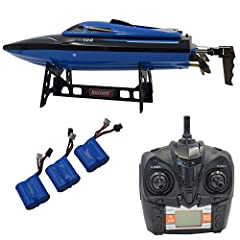 Radio Control Boats & Watercraft.Extra 2 Battery, 1 Battery value is $10, Description: product name:2.4G 4 channel remote control ship color: monochrome blue product specification: 35.2*9.2*9cm Specification: 36.8*28*12.5cm box sailing ti...