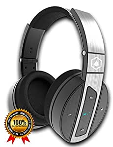 HIFI ELITE Super66 | Portable, Bluetooth Headphones, Wireless, Noise-Isolating, Over Ear : Premium Audio, Rich Bass, Built-In Microphone, Good Battery, Wired Line-In : For Cell Phones, Computers, TVs
