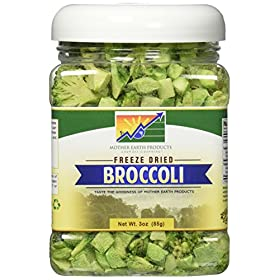 Mother Earth Products Freeze Dried Broccoli, Net Wt 3oz (85g)