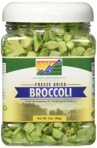 Mother Earth Products Freeze Dried Broccoli, Net Wt 3oz (Dried Veggies)