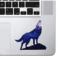 "Cosmic Howling Wolf Laptop Sticker Keyboard, Keypad Vinyl Macbook Decal Sticker - Skin Track Pad MacBook Pro Air 13"" 15"" 17"" iPad Laptop Decal iPad Sticker K9 Dog Wolf Silhouette"