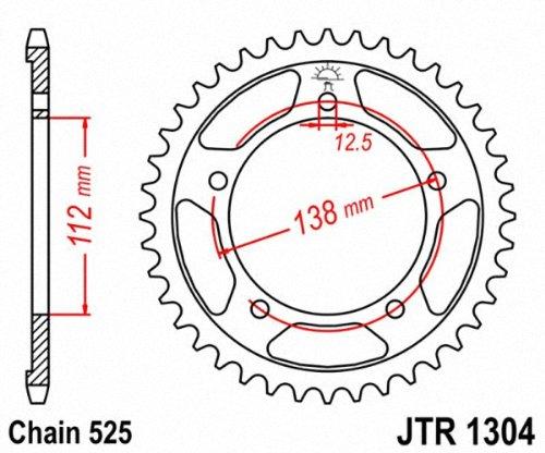 JT Sprockets jtr1304.43/trasera Pi/ñ/ón