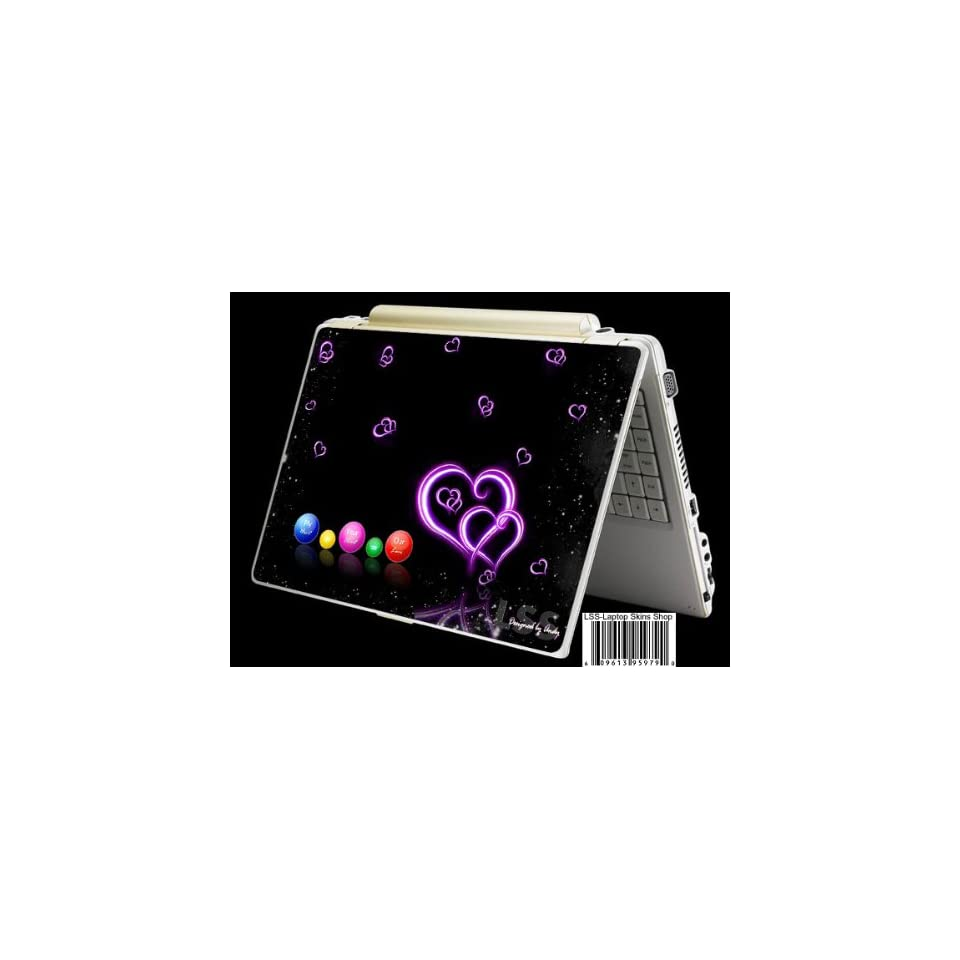 Laptop Skin Shop Laptop Notebook Skin Sticker Cover Art Decal Fits 13.3 14 15.6 16 HP Dell Lenovo Asus Compaq (Free 2 Wrist Pad Included) Hearts