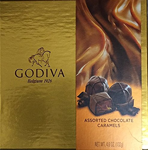 Godiva Chocolatier Trayed Assorted Chocolate Caramels 4.6oz Gift Box (Pack of 2)