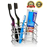 Mavgv Electric Toothbrush Holder, Stainless Steel Rustproof Metal Bathroom Toothpaste Holder Stand with Multi-Functional 5 Slots for Electric Toothbrush