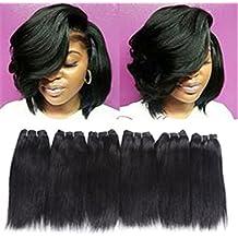 6 Bundles Extensions Hair Straight Human Hair Weave Bundles Virgin Brailian Hair 50g/pcs