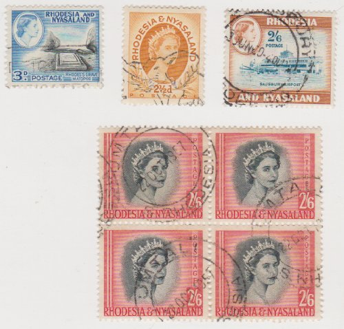 Cancelled Postage Stamps Of Rhodesia And Nyasaland