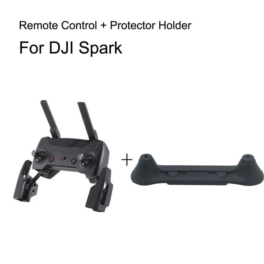 Remote Controller Range UP To 2KM + Guard Rocker Protectort For DJI Spark Durable Dreamyth (black)