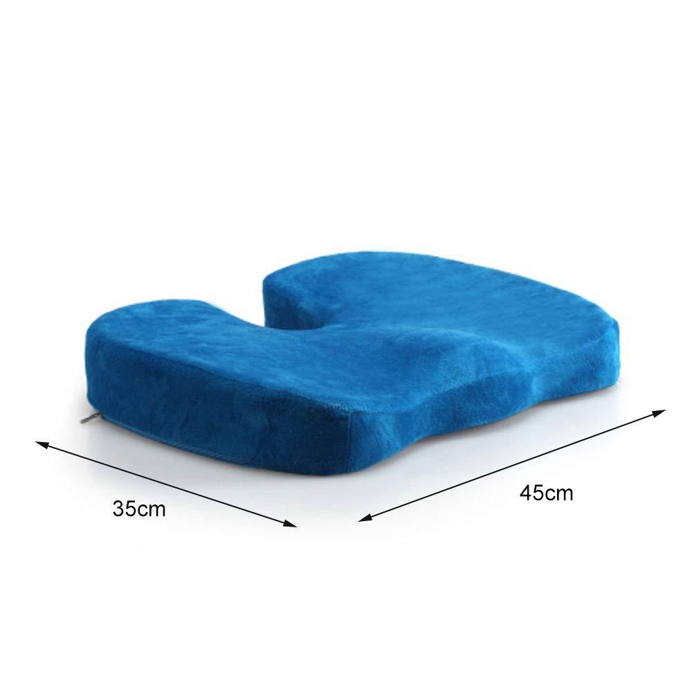coccige ortopedico cuscino del sedile per abbellire fianchi colore nero allevia dolori della zona lombare adatto per sedia da ufficio Cuscino memory foam seggiolino auto sedie a rotelle