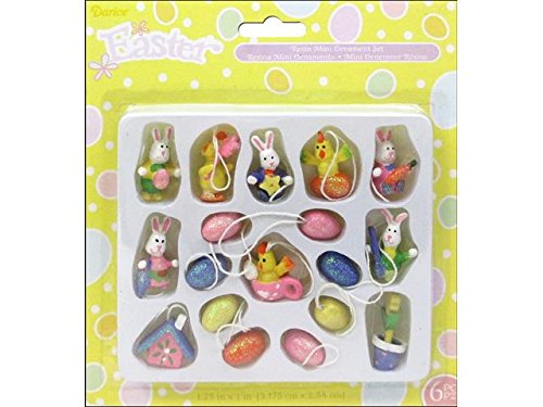 Darice Mini Easter Egg and Bunny Ornaments