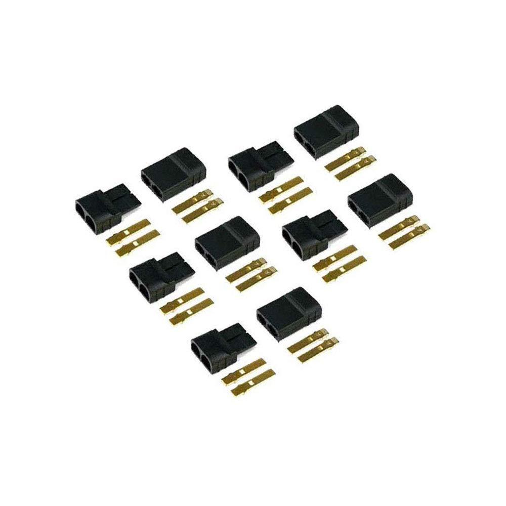 5 Pairs RC TRAXXAS TRX Plug Connectors Für Lipo//NiMh Battery Brushless ESC Motor
