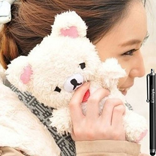 Galaxy S7 Edge case,Emilys fashion style New Cute 3D Lovely Teddy Bear Doll Toy Cool Plush Fitted Back Phone case Cover for Samsung Galaxy S7 Edge(Brown)