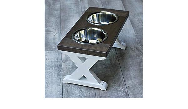 MediumX Pattern Farmhouse Dog Bowl Stand
