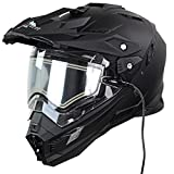 Snow Master TX-27 Matte Black DS Snowmobile Helmet - Small