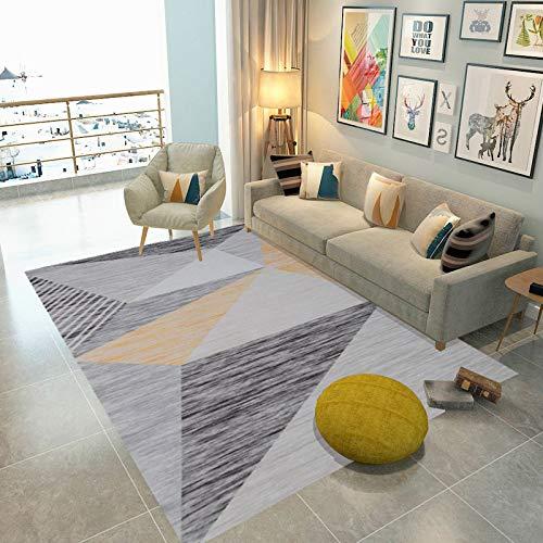 Ilios Innova Tapete Sala Estilo Nórdico 160x200 cm Calidad y suavidad (Triágulos amarillos1)