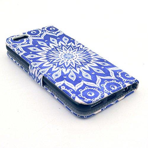 Painting Art Design Beutel PU Leder Stehen Flip Schutzhülle Hülle Tasche Schale Case Cover für for Apple iPhone 6 4.7 Zoll (01#)