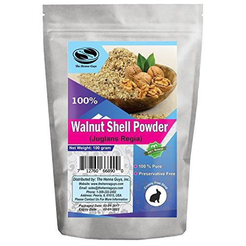 100 Grams Walnut Shell Powder - 100% Pure & Natural Herbs, Multi-Purpose Use - Skin Care & Natural exfoliant (Exfoliant Shells Walnut)