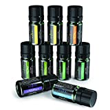Anjou Aromatherapy Top 9 Essential Oils Set, 100% Pure Therapeutic Grade, Sampler Gift Kit, 9 x 5 ml (Tea Tree, Lavender, Frankincense, Lemongrass, Sweet Orange, Peppermint, Eucalyptus, Lemon etc.)