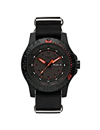 Traser Red Combat Watch with Sapphire Crystal and black NATO Strap 104147